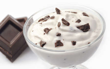 Stracciatella yogurt Stock Photo