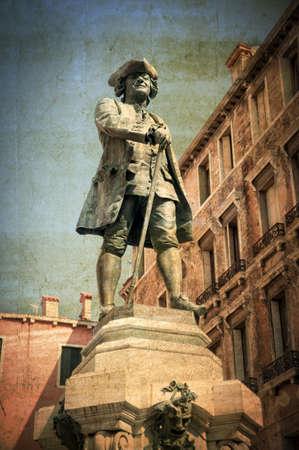 writer's block: Italian writer Carlo Goldoni