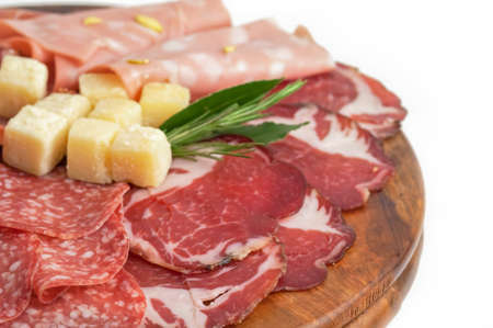 Mix of italian antipasto photo