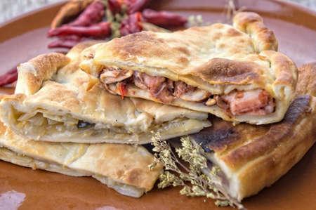 Tiella - traditional italian stuffed focaccia