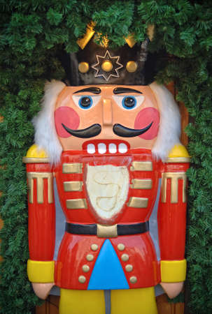 toy soldier: Wooden toy soldier nutcracker Editorial