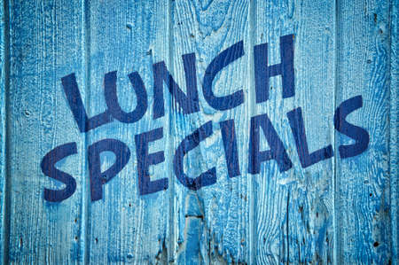 specials: Lunch specials written on wooden wall