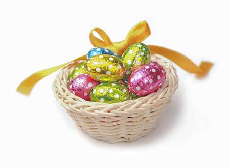 chocolate eggs: Colorful chocolate eggs