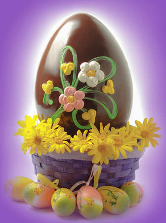 Decorated chocolate Easter egg