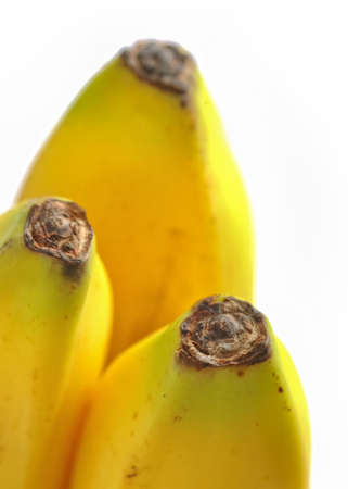 l agriculture: Closeup bananas on white background