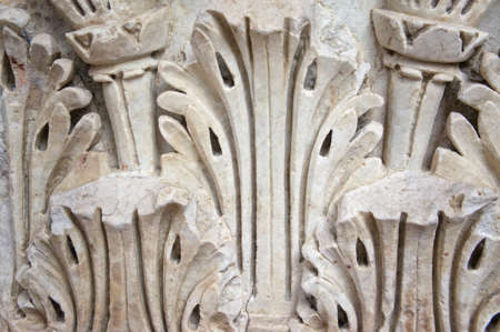 roman column: Beautiful fragment of an ancient roman column
