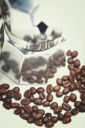 with coffee maker: Coffee maker - traditional italian coffee maker