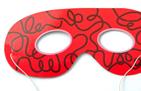 white mask: Carnival mask on white background Stock Photo