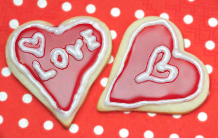 shaped: Homemade heart shaped biscuit