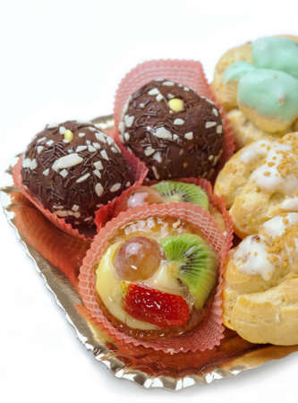 Traditional italian pastries on a tray