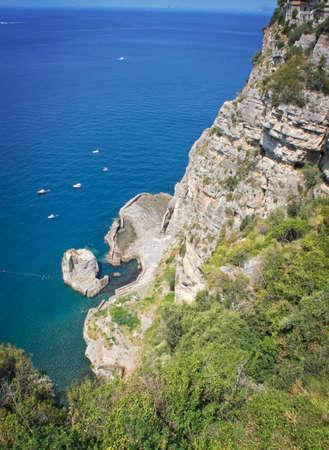 sorrento: Panorama of the Sorrento coast - Italy