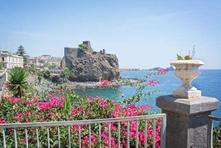 norman castle: Norman castle in Aci Castello village Sicily, Italy Editorial