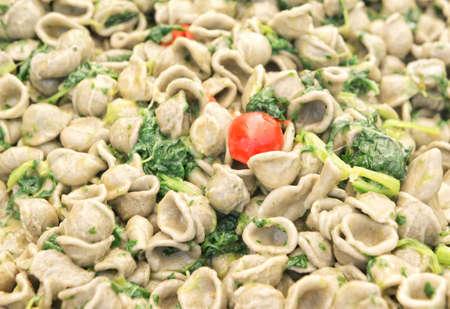 the greens: Orecchiette pasta with organic turnip greens