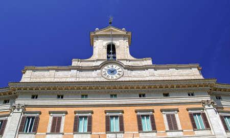 italian politics: Montecitorio -  Chamber of the Italian parliament Stock Photo