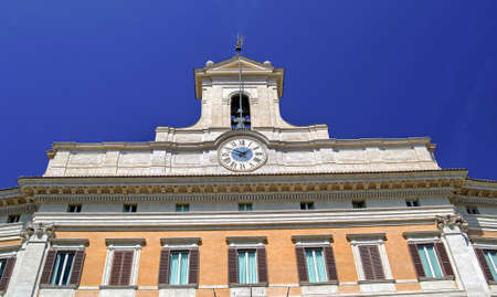 Montecitorio -  Chamber of the Italian parliament Stock Photo