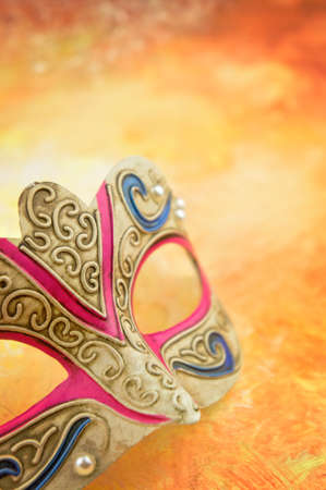 copy space: Carnival mask with copy space Stock Photo