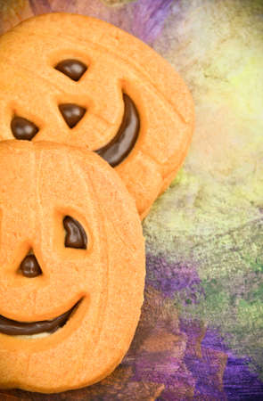 Colorful Halloween pumpkin cookies