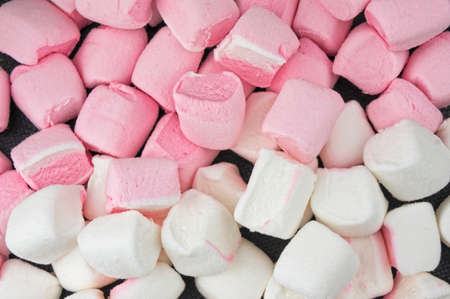 White and pink  marshmallows background