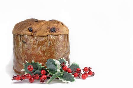 Panettone - Traditional Italian Christmas cake Stock Photo