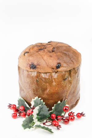 Panettone - Traditional Italian Christmas cake isolated