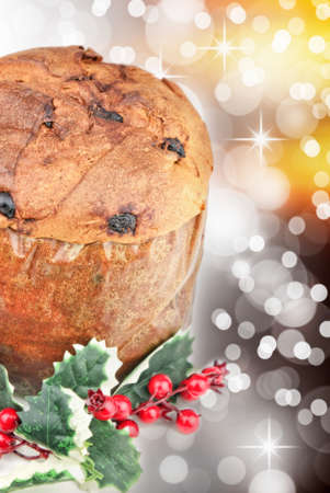 Panettone - italian Christmas cake Stock Photo