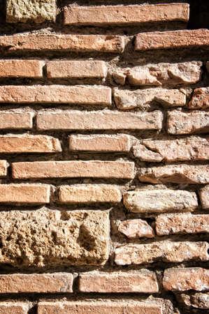 Old brick wall in Rome Italy Stock Photo