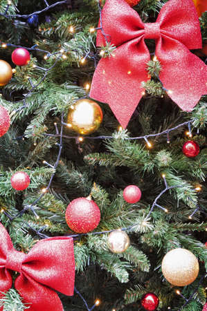 Traditional Christmas decorations with copy space
