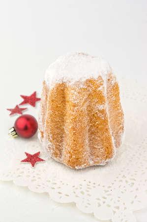 Pandoro - traditional italian Christmas cake Stock Photo