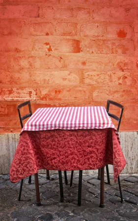 Empty restaurant table with copy space