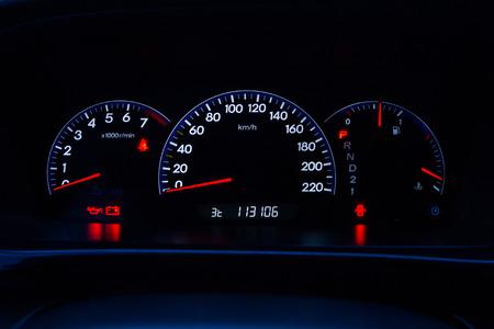 Car dashboard. Фото со стока