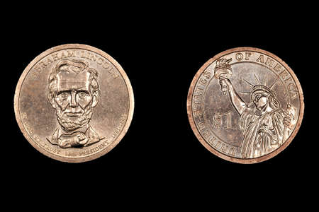 abe: Isolated Abe Lincoln dollar coin