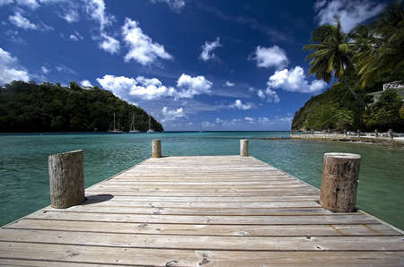 st lucia: Tropical pier
