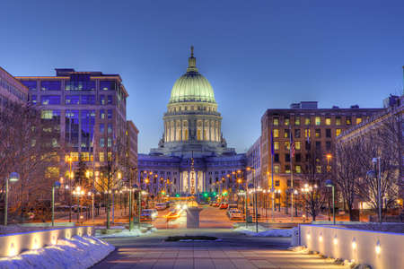 wisconsin state: Wisconsin state capital building Stock Photo