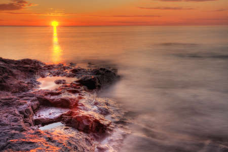 Lake Superior sunrise Reklamní fotografie