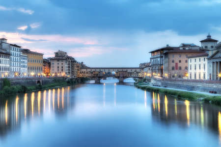 hdr: Arno River, Florence, Italy Stock Photo