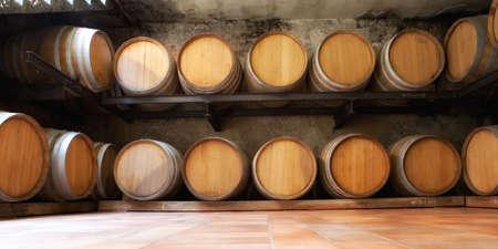 wine barrels Reklamní fotografie
