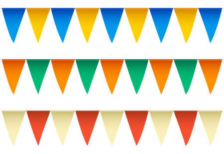 Meerdere rijen kleurrijke zwembad rugslag vlaggen met afwisselende kleuren gelabelde Global Kleurenmonster voor zeer eenvoudige kleur bewerken EPS10 Vector