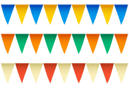alternating: Several rows of colorful swimming pool backstroke flags with alternating colors  Labeled Global Color Swatches for ultra simple color editing  EPS10 Vector