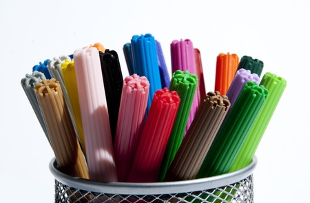 School pens of various colors to draw Stock Photo - 12555194