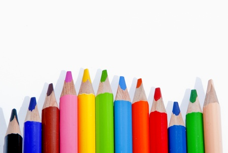 Wooden Pencils school in various colors to draw Stock Photo - 12555190