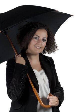 Attractive woman with umbrella photo