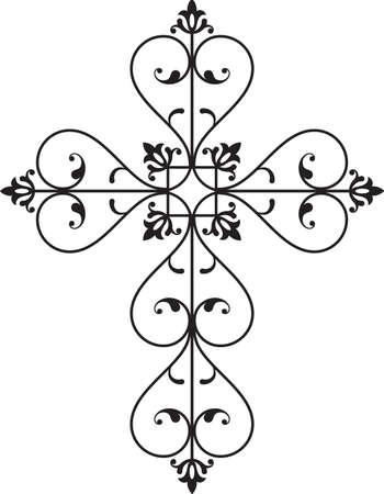Art Christian Cross disegno vettoriale Archivio Fotografico - 31883904
