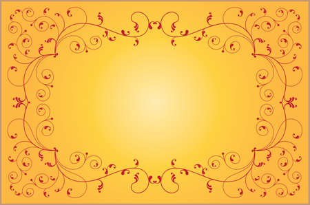 ornamental background: Frame Border Design Vector Art