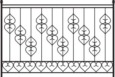 window grill: Wrought Iron Gate, Door, Fence, Window, Grill, Railing Design Vector Art