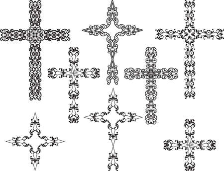 pasqua cristiana: Art Christian Cross Vector Design