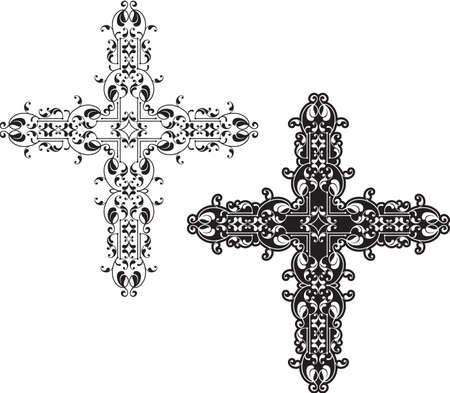 pasqua cristiana: Art Christian Cross Vector Design
