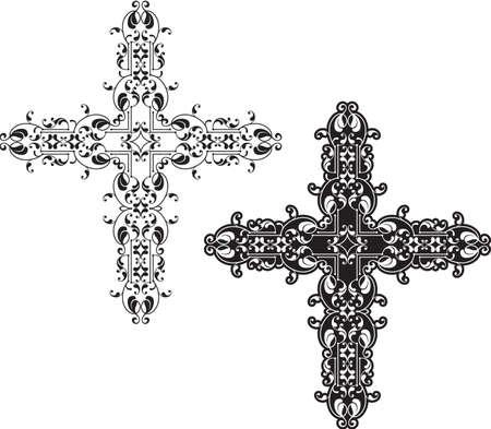christian clip: Christian Cross Design Vector Art