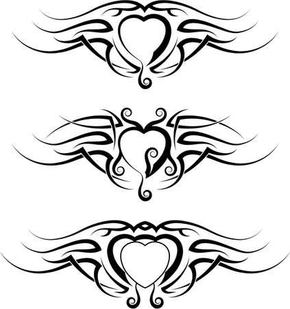 arm: Art Tattoo Heart Design Vector
