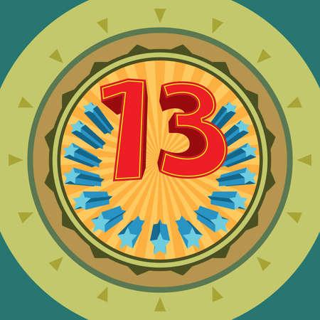 traditionally irish: Lucky  Number 13, Thirteen Vector Art