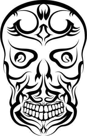 Tattoo Skull Design Vector Art Vector